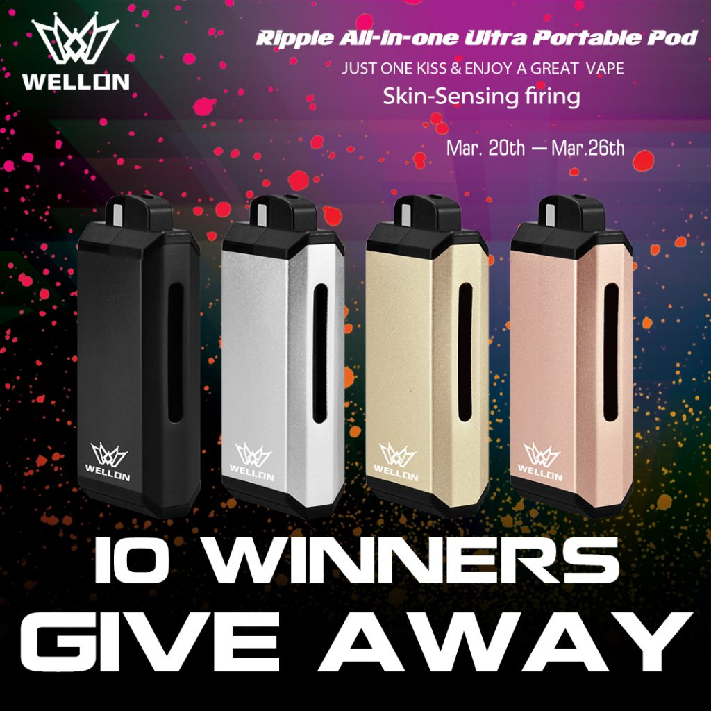 Vape Giveaway: Win a Ripple pod Ultra Portable System!