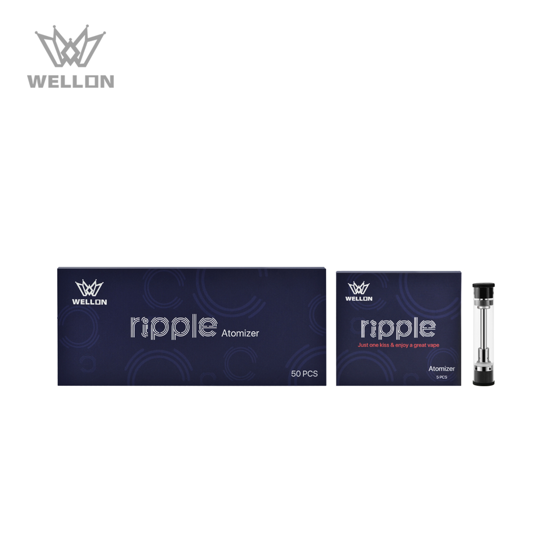 The Two different package of Rose Gold Ripple Atomizer- White Background