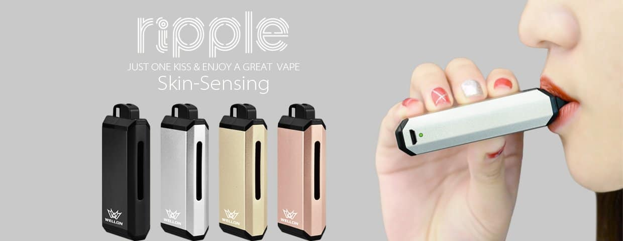Wellon Ripple Kit is an easy to use Pod System vape 1240x480